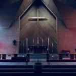An empty church sanctuary.