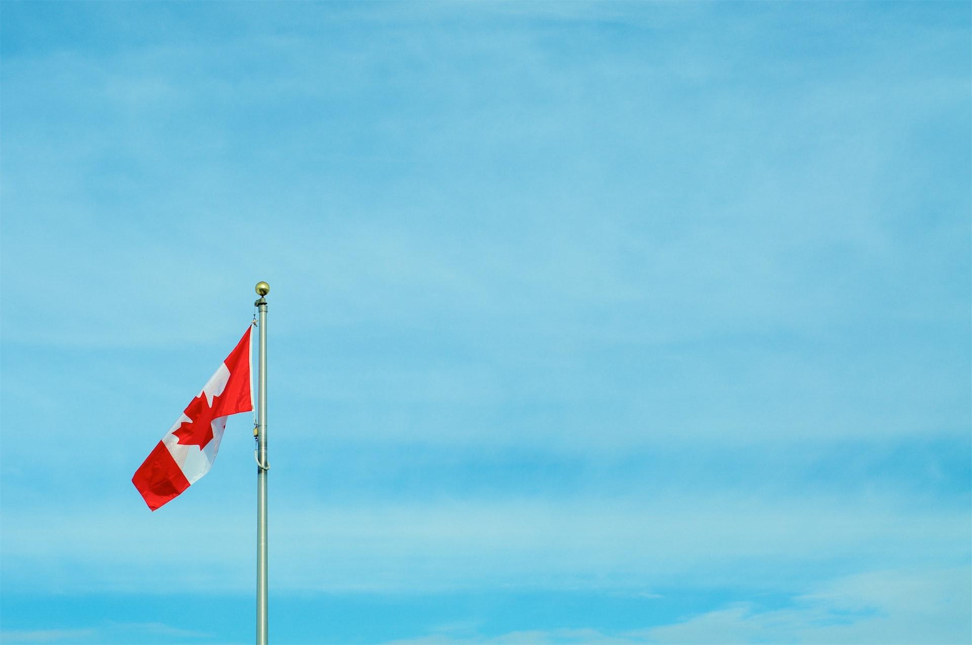 A Canadian flag