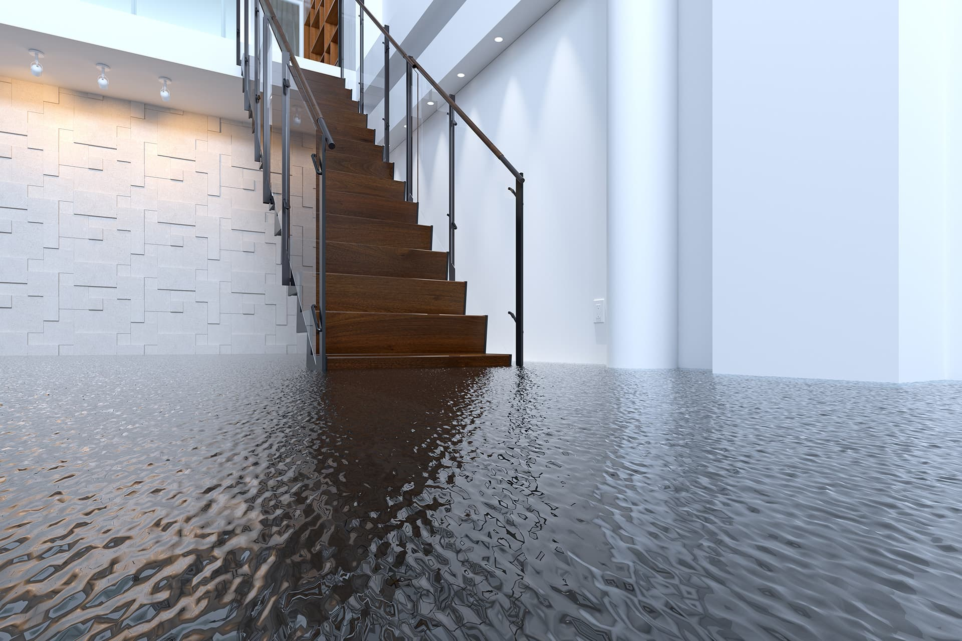 Supplemental insurance for building flooded with water