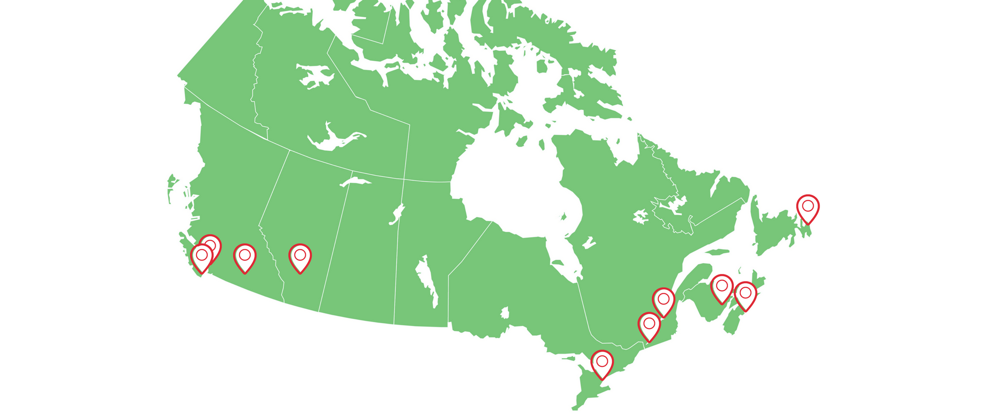 Provinces of Canada: a list. The largest cities of Canada 77