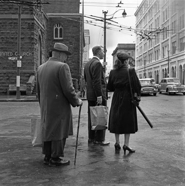 A photograph by Vivian Maier from her visit to Calgary in the 1950s