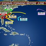 Tropical storm that may form would join storms that developed before hurricane season starts