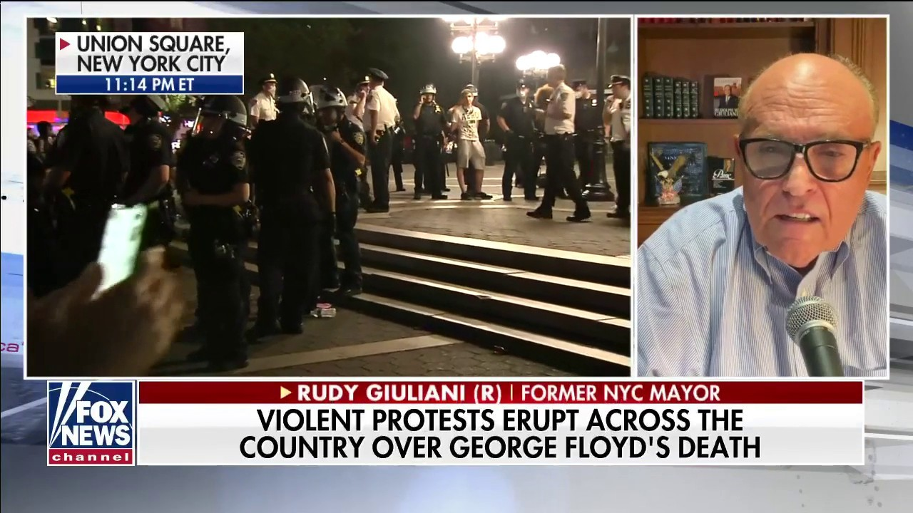 Rudy Giuliani blasts 'liberal' leaders for riots: 'Progressives don't know how to police'