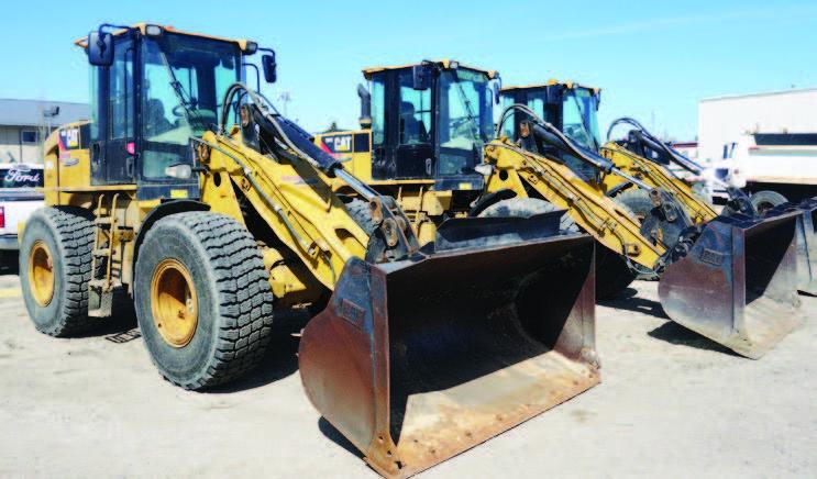 (3) CAT 924H Wheel Loaders