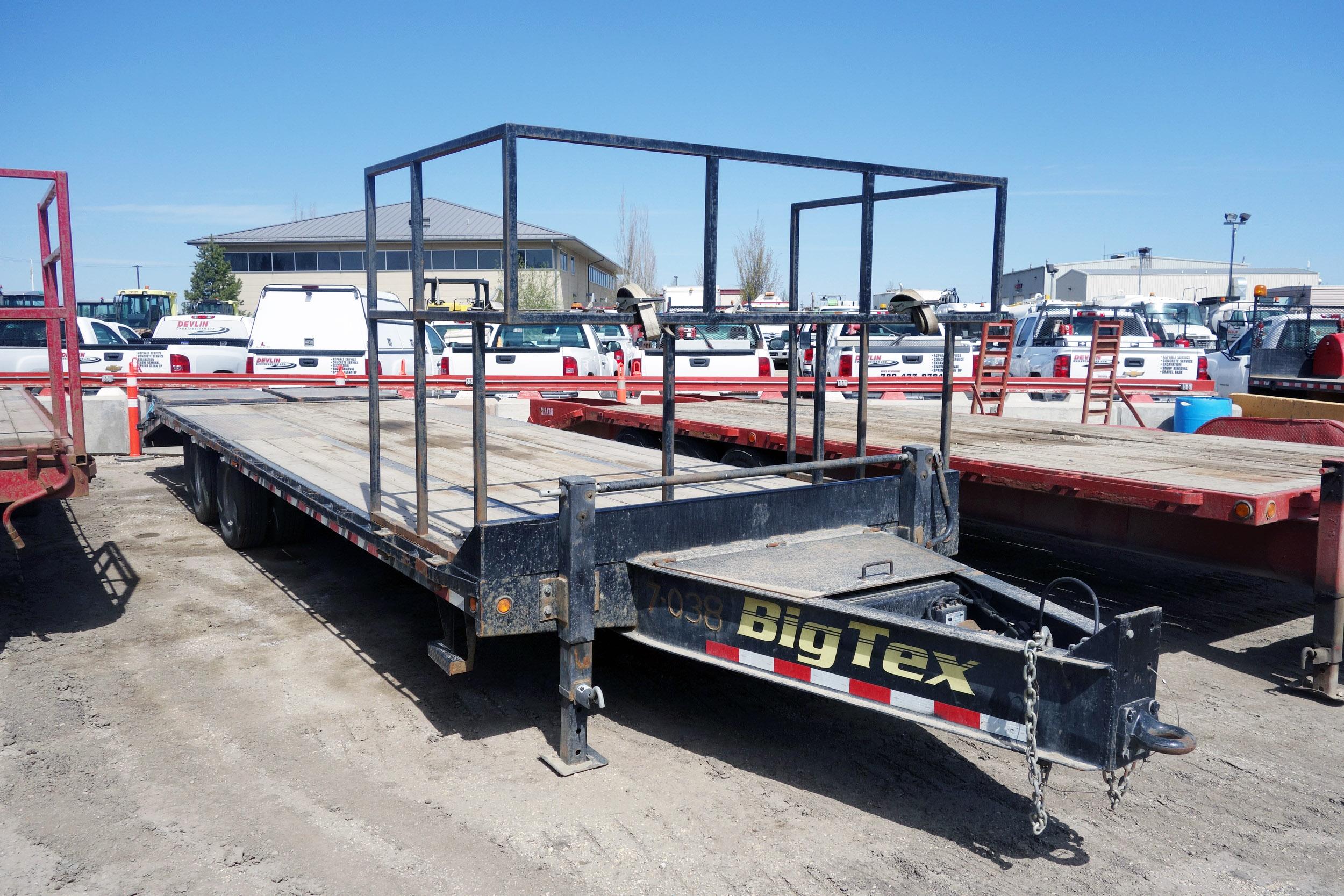 2016 Big Tex B/P Flat Deck, 22PH Flatdeck Trailer
