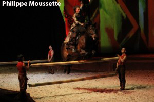 Obstacle occasionnant un saut pour le cheval