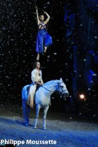 Cavalia, un numéro de voltige sur cheval