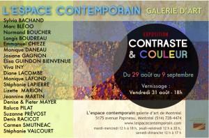 L'exposition CONTRASTE & COULEUR sera présentée du 29 août au 9 septembre prochain