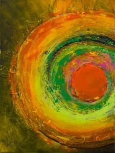 une exposition solo de l'artiste Huguette THIBOUTOT