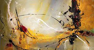 Peinture représentant de l'abstraction lyrique