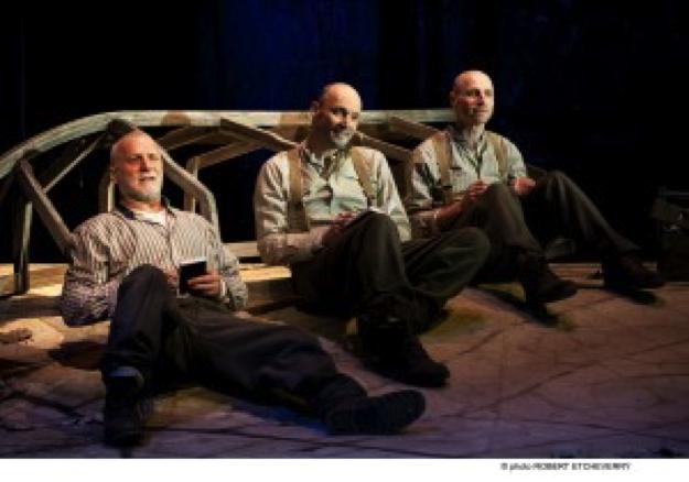 Les personnifications des facettes de Thoreau (Jean-François Blanchard, Denis Lavalou, Marcel Pomerlo) (photo : courtoisie
