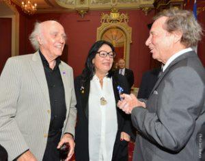 Gilles Vigneault, Nana Mouskouri et Jean-Pierre Ferland