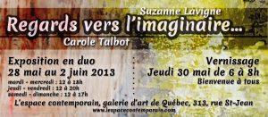 carton d'invitation pour l'exposition