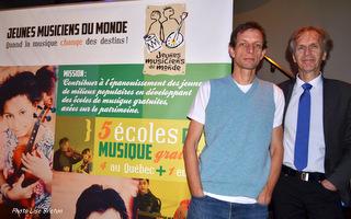 Mathieu Fortier, co-fondateur JMM et Martin Racine, professeur à l'école JMM de Québec
