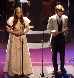 Stefania Vetere (Cosette) et Gustave Richard (Marius)