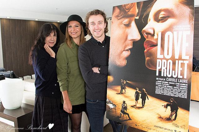 Carole Laure, Magalie Lépine-Blondeau et Benoît McGinnis, pour le film Love Project