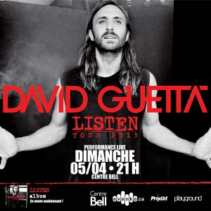 Bal en blanc - David Guetta le 5 avril  au Centre Bell