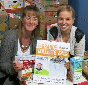 Mmes Élaine Côté, directrice générale de Moisson Québec et Isabelle Plante, chef pâtissière et marraine d'honneur de la 20e Grande Collecte. © photo: courtoisie