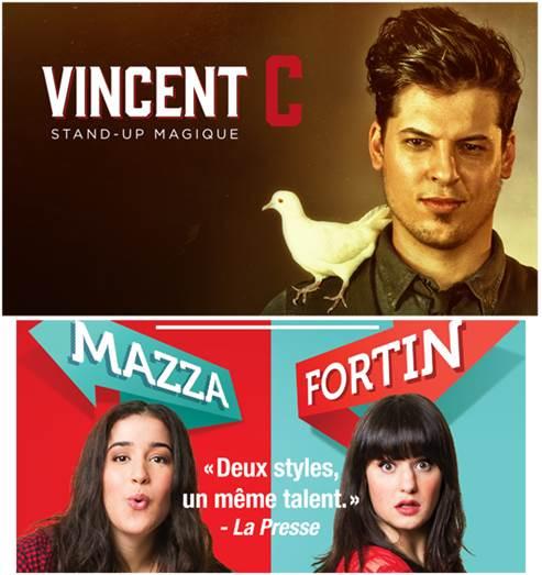Vincent C et Mazza/Fortin au Théâtre du Cégep de Trois-Rivière