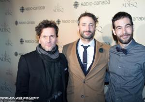Martin Léon, Louis-Jean Cormier et Daniel Beaumont © photo: Marc Young