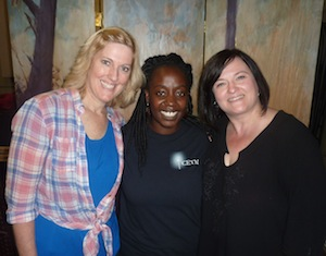 Cathy Burns, Dayane Ntibarikure et Lisa Forget