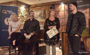 Ingrid St-Pierre, Pierre Flynn, Solange Morrissette DG du Roseq et Koriass Photo @Lise Breton