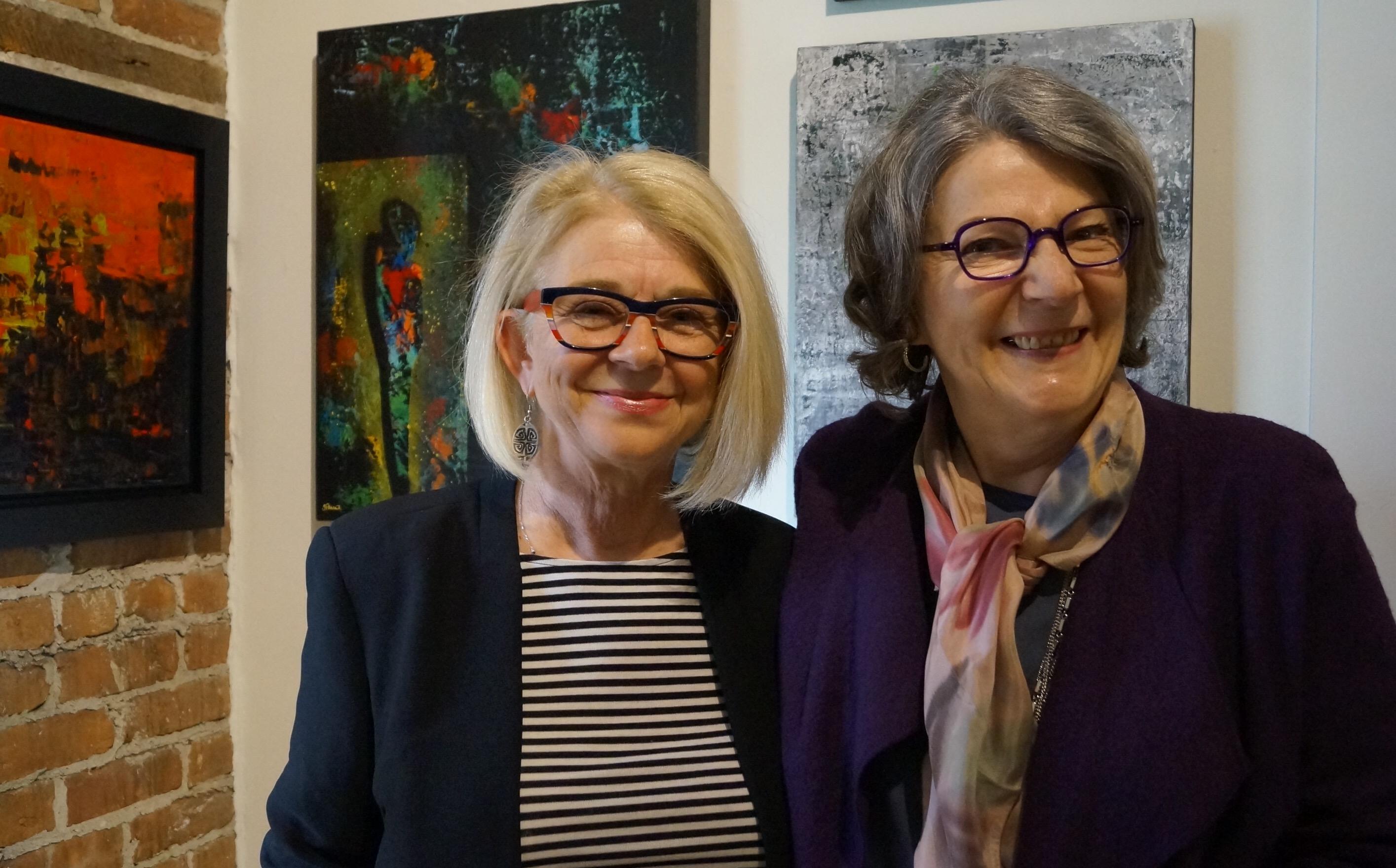 Madeleine Dubé et Brigitte Michaud