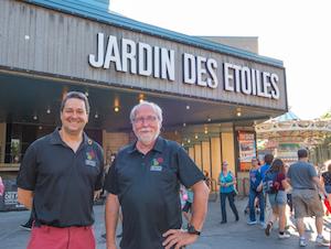 Denis Lono et Roger La Roche au Jardin des Étoiles