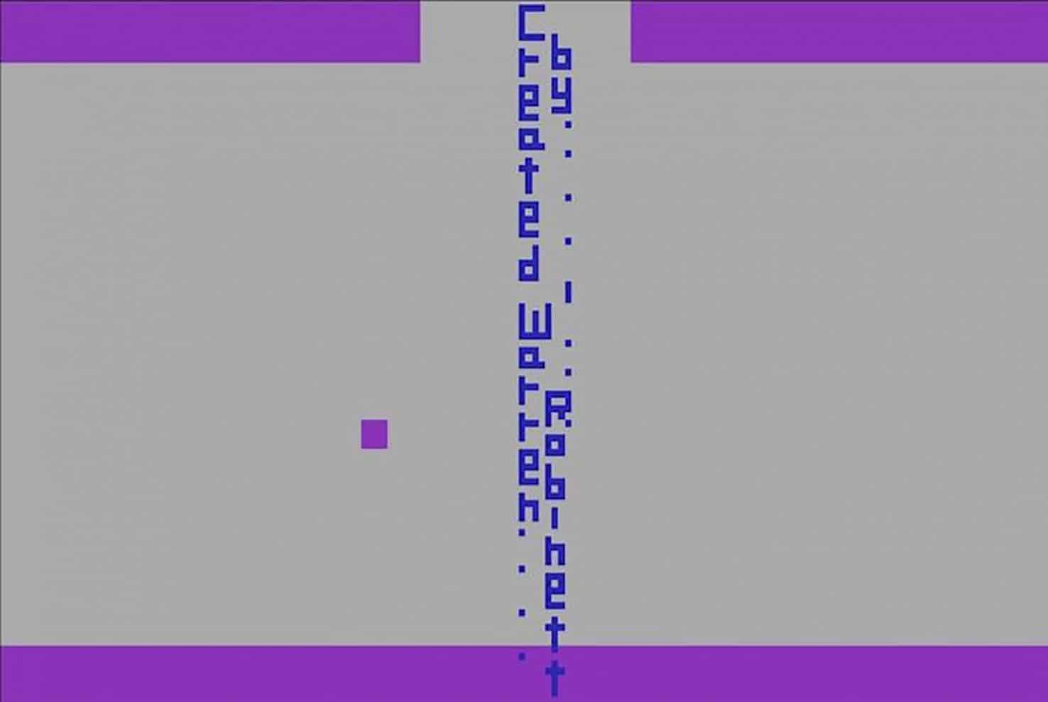« Created by Warren Robinett » - Adventure (1979) sur Atari 2600
