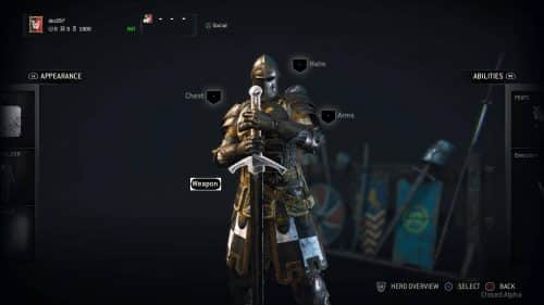 For Honor Alpha Customization
