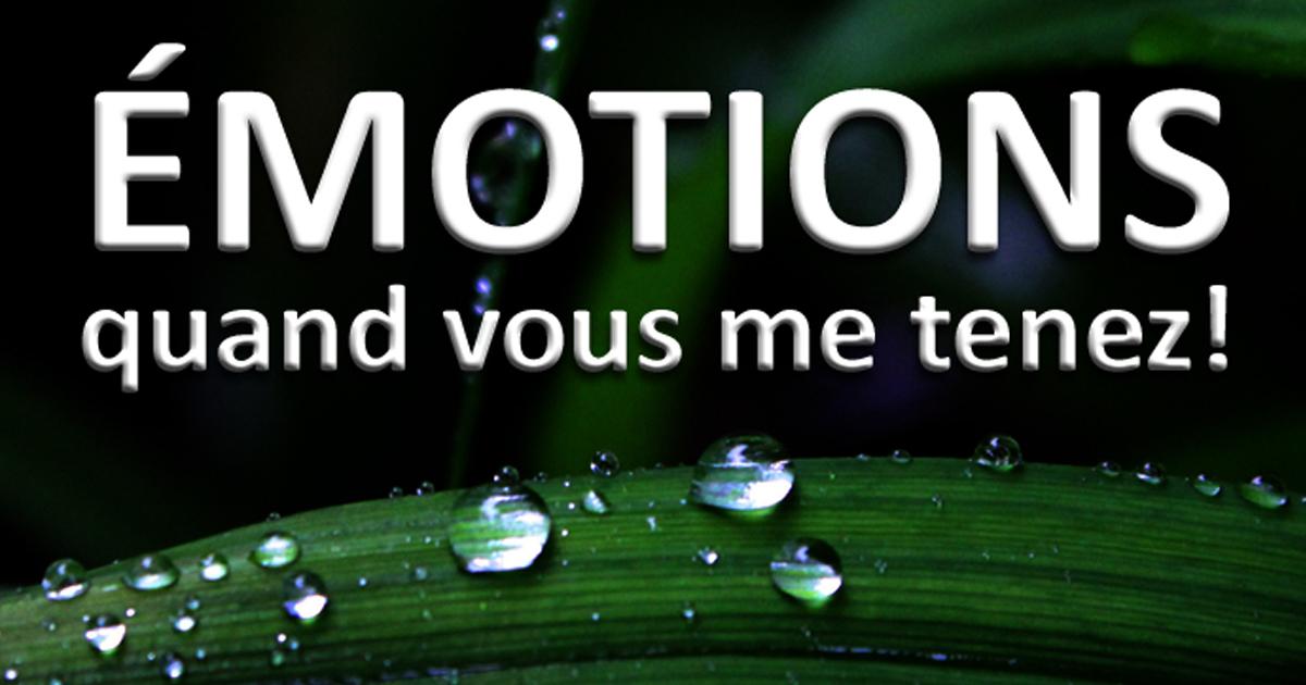 Émotions, quand vous me tenez!