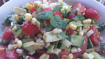 Salade de maïs mexicaine
