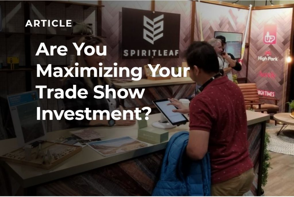Article Trade Show Investment Banner