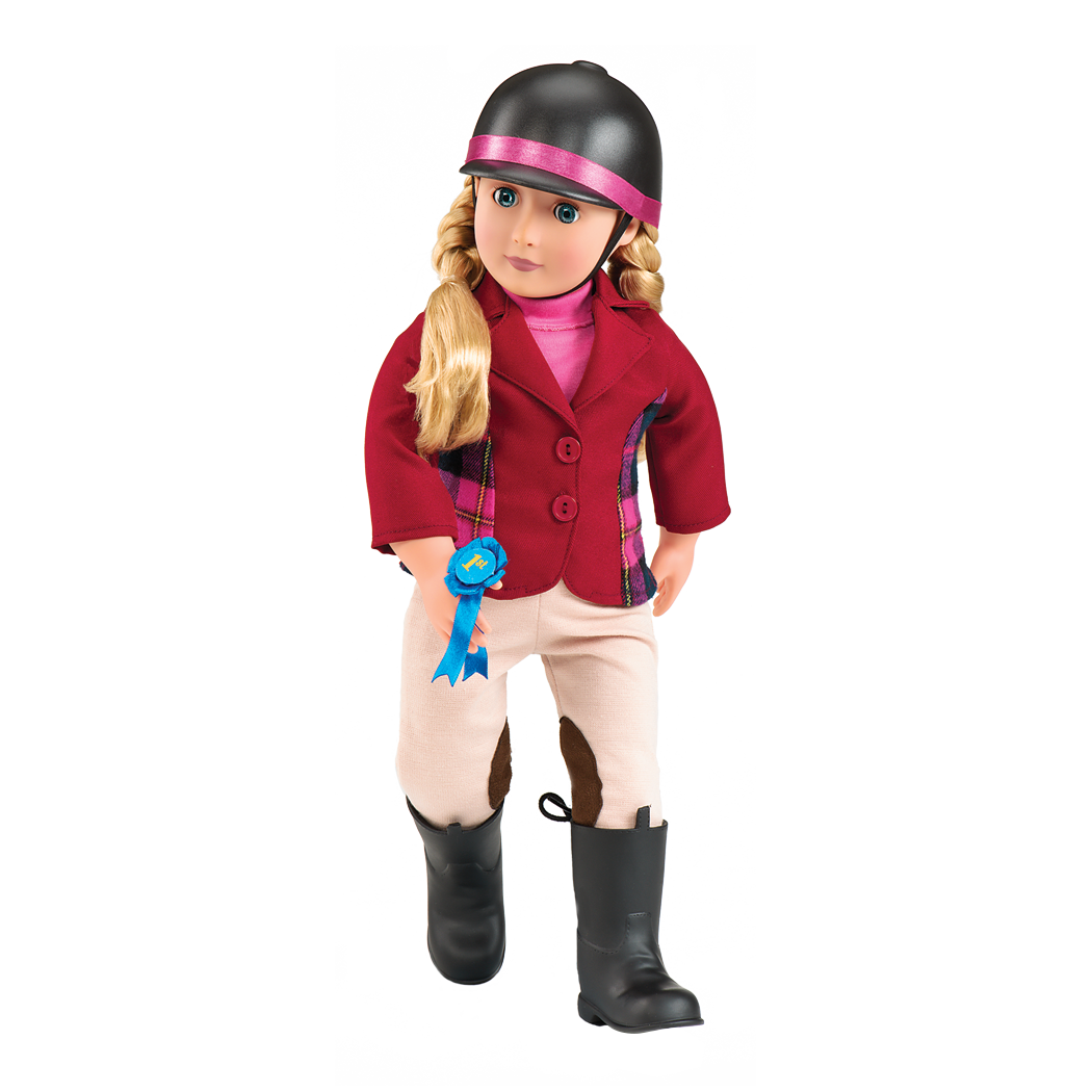 lily Anna wearing riding outfit