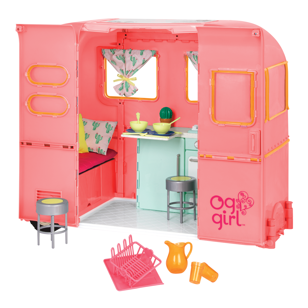 RV Seeing You Camper Pink all components