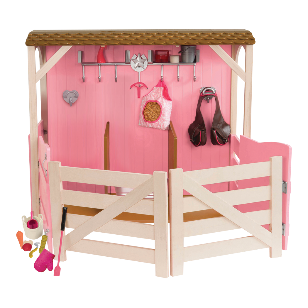 Saddle Up Stables Horse barn for 18-inch dolls