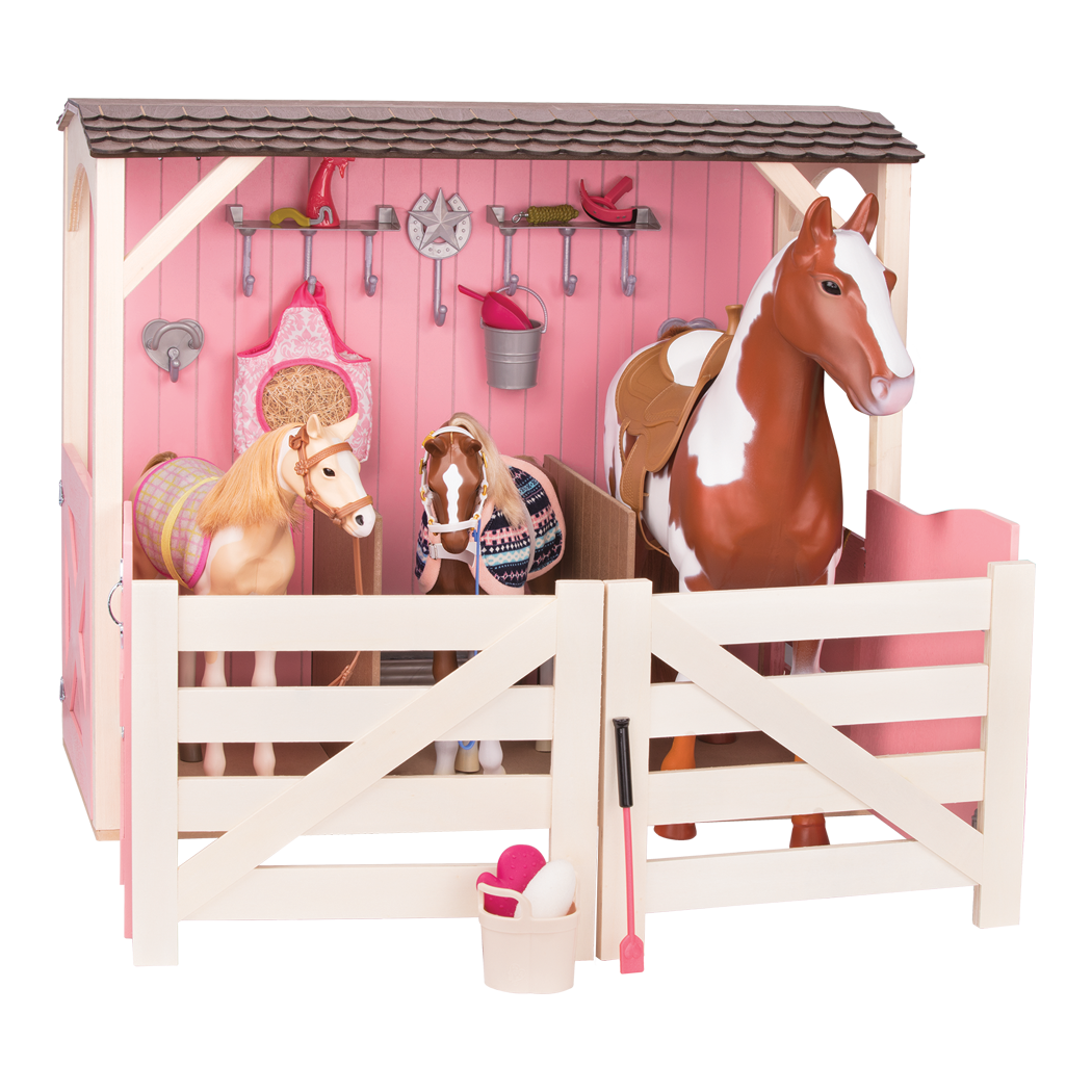 two foals horse stalls