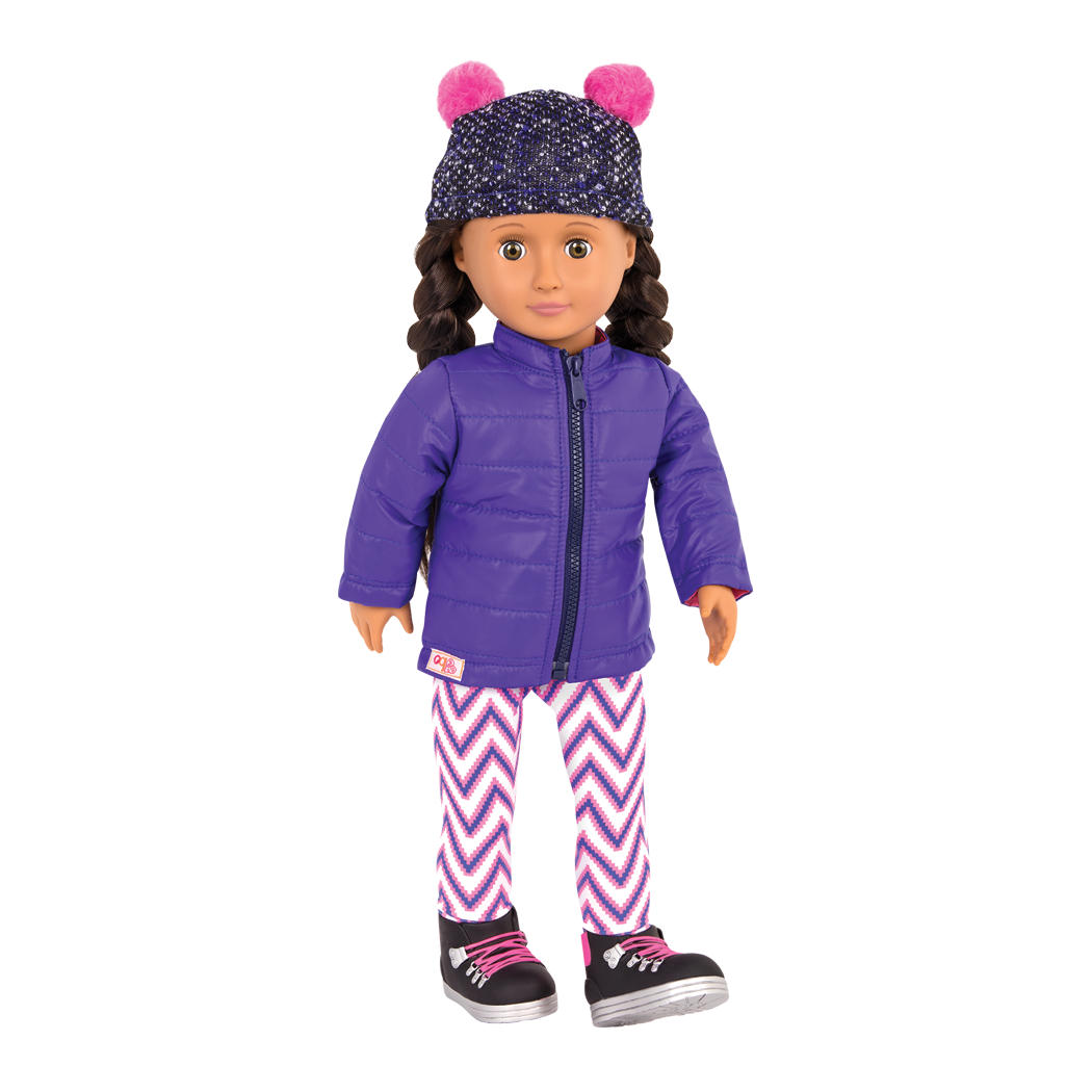 Winter Walk Quilted Coat Outfit Blanca