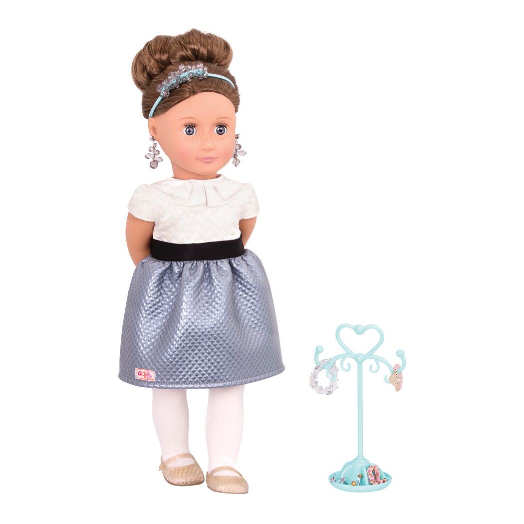 Aliane 18-inch Jewelry Doll with Earrings
