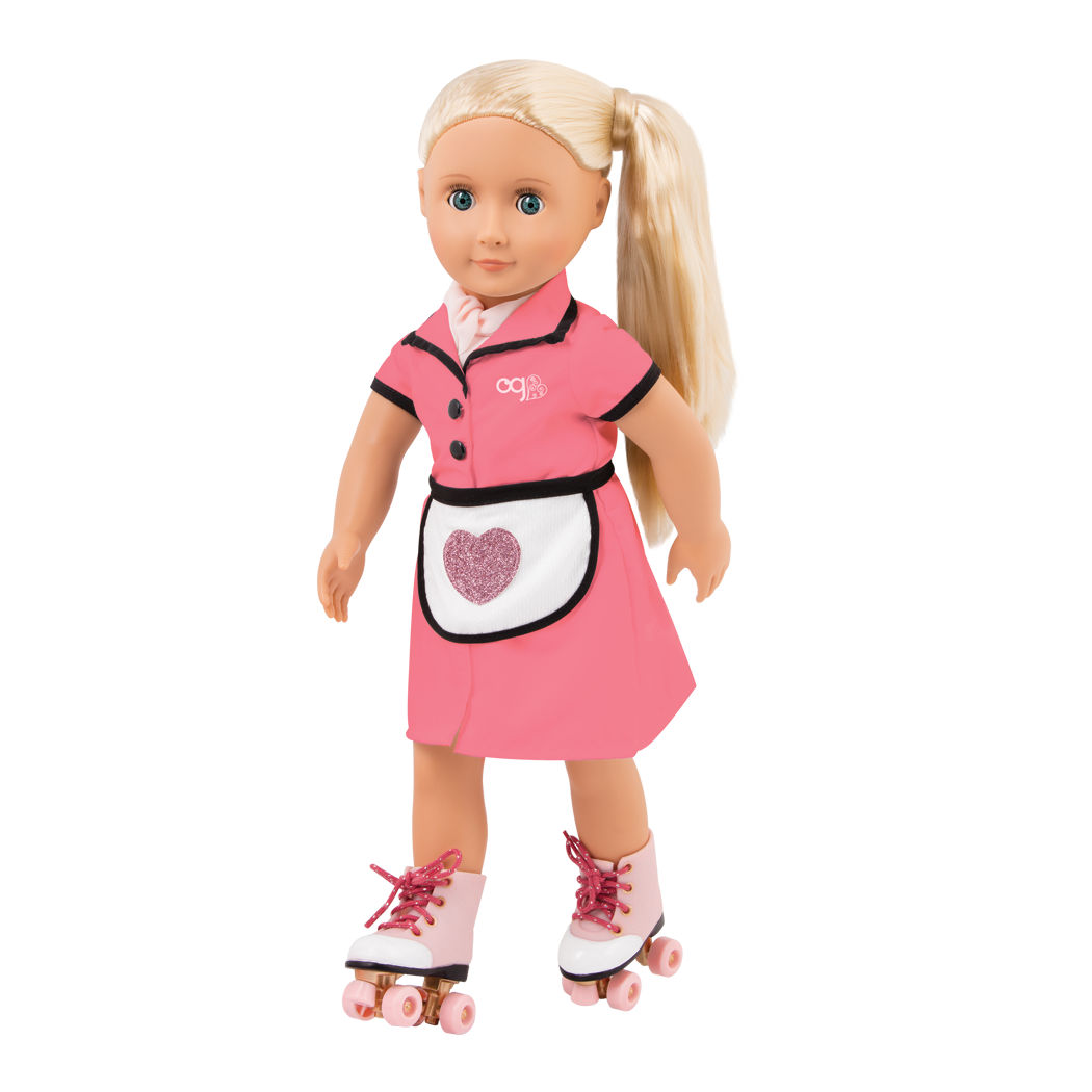 Rachel 18-inch Retro Waitress Doll on Rollerskates