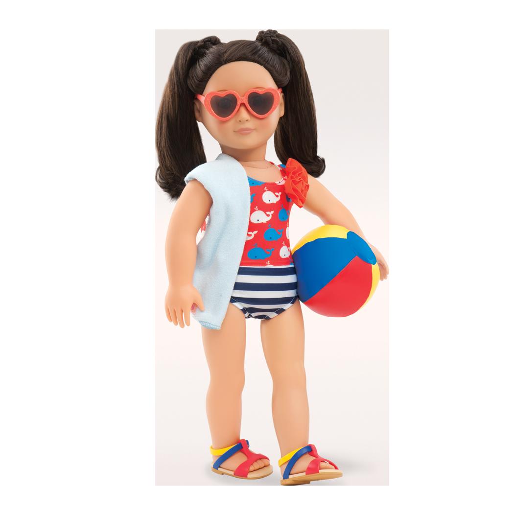 Leslie wearing swimsuit