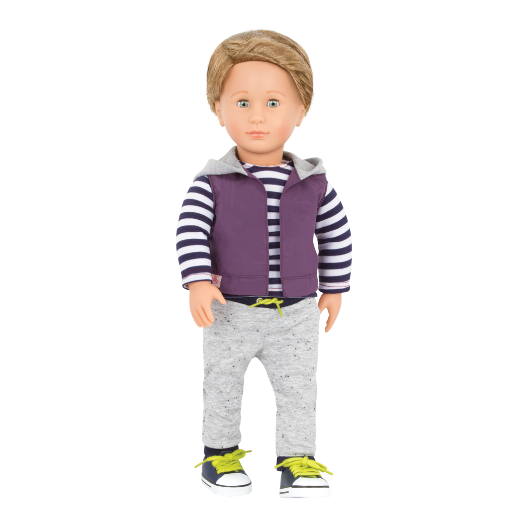 Rafael 18-inch Boy Doll with Hoodie