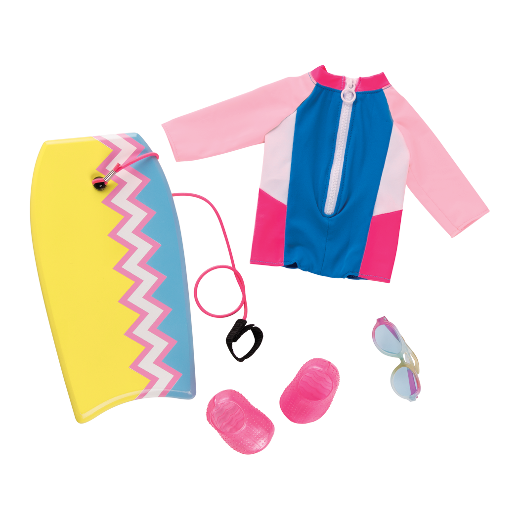 Fashion Wave Wetsuit Outfit for 18inch Dolls