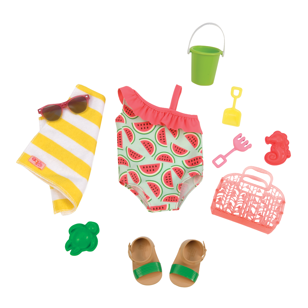 Slice of Fun swimsuit Outfit for 18inch dolls