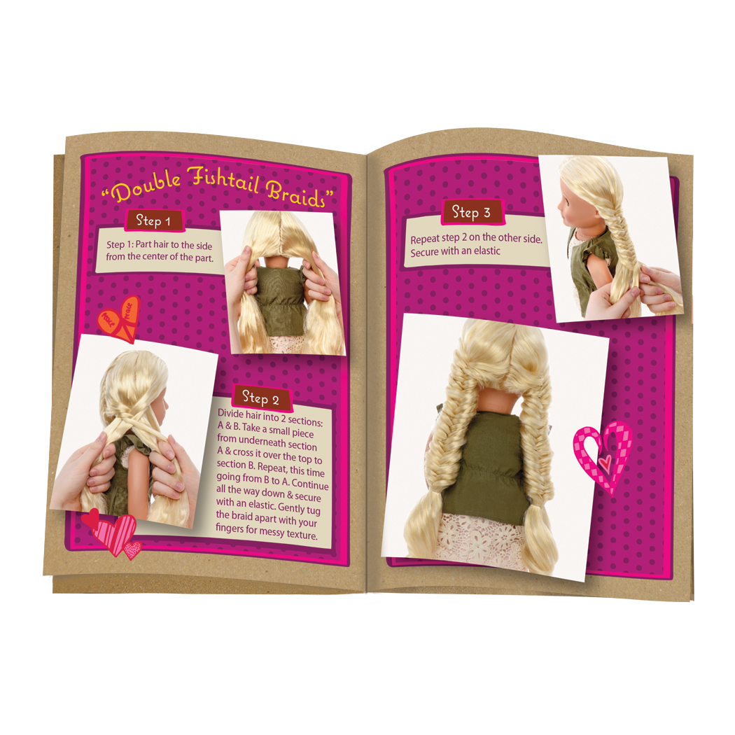 Hairplay Style Guide for 18inch dolls