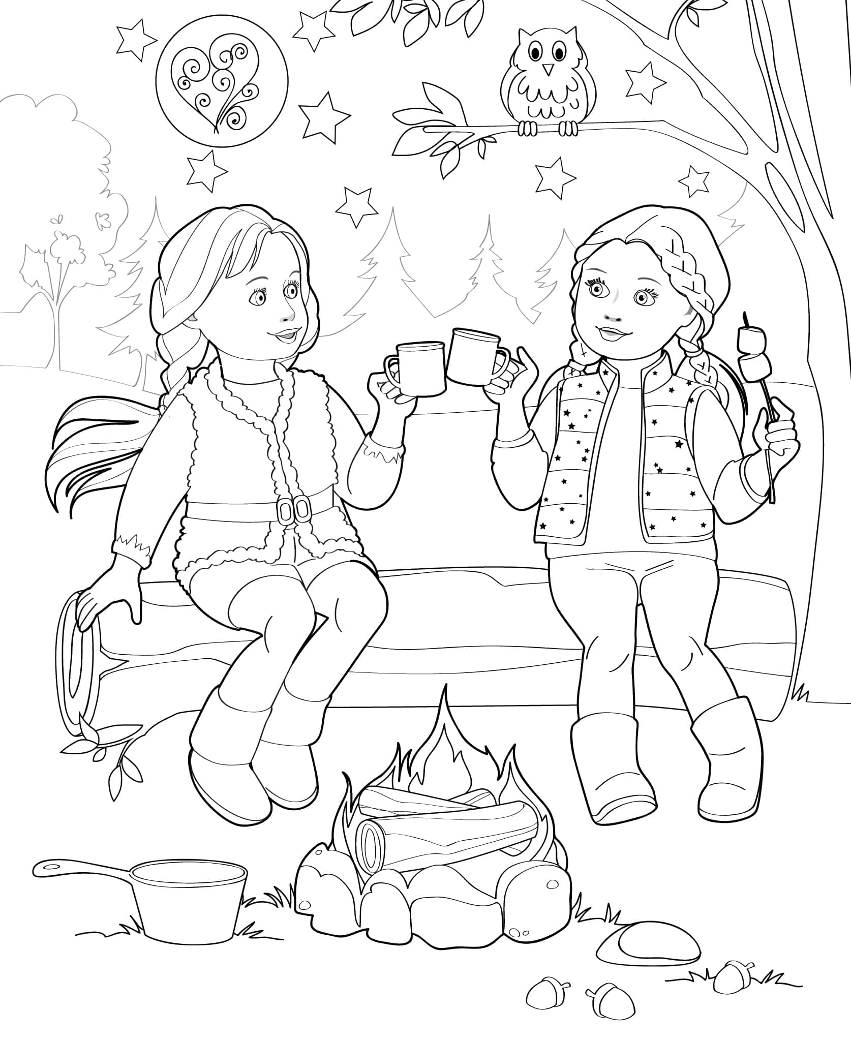 doll coloring book pages - photo#13