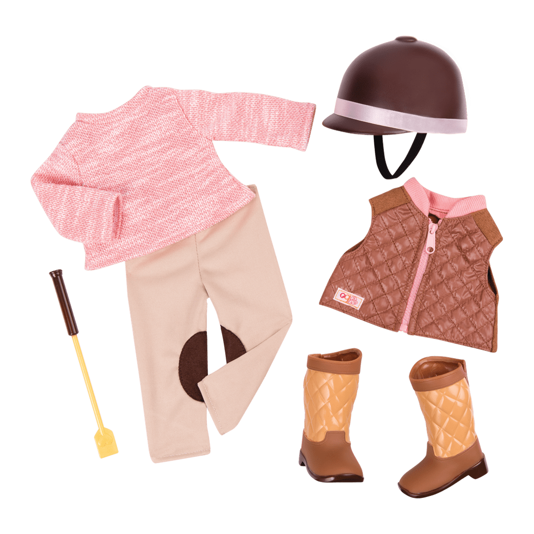 Riding in Style Equestrian Outfit for 18-inch Dolls