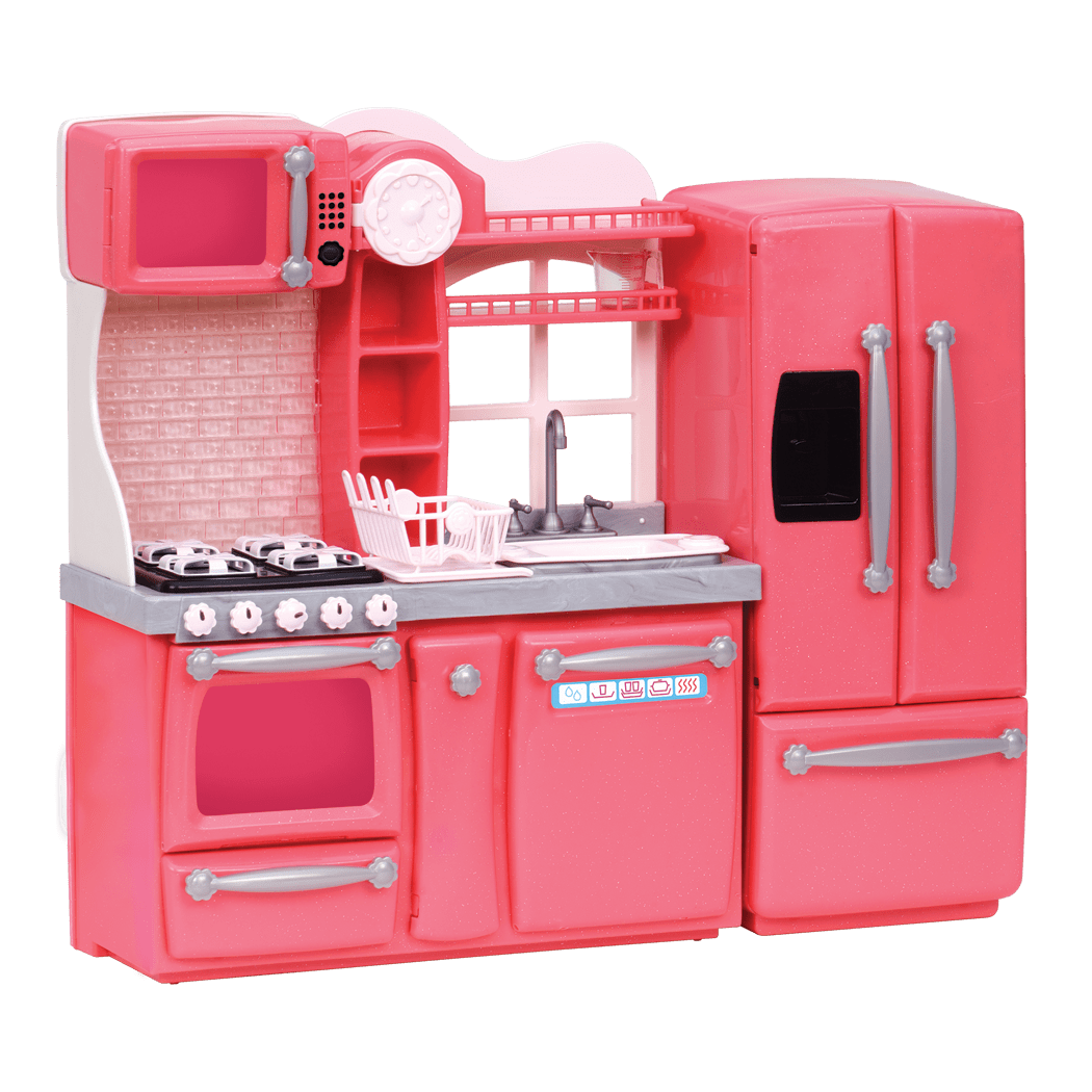 Pink Gourmet Kitchen Dollhouse Cooking Furniture Our Generation