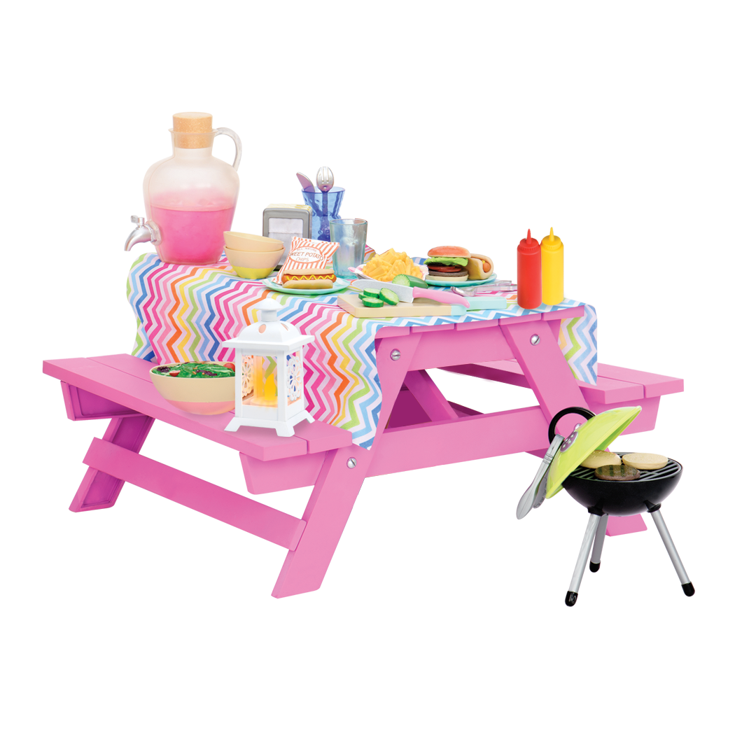 Picnic Table Set for 18-inch Dolls