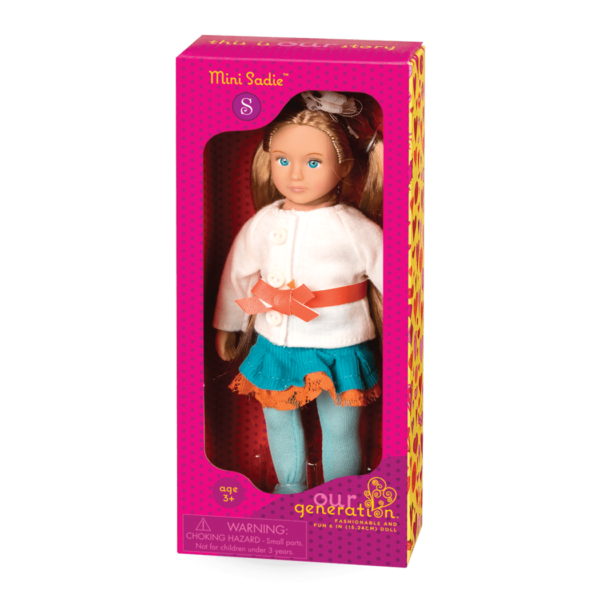 BD33004A Mini Sadie 6 inch Doll package